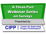 A Three Part Webinar Series on Surveys