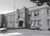photograph of the front of a school